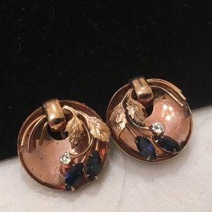 Vintage '40's Sterling By Coro Earrings